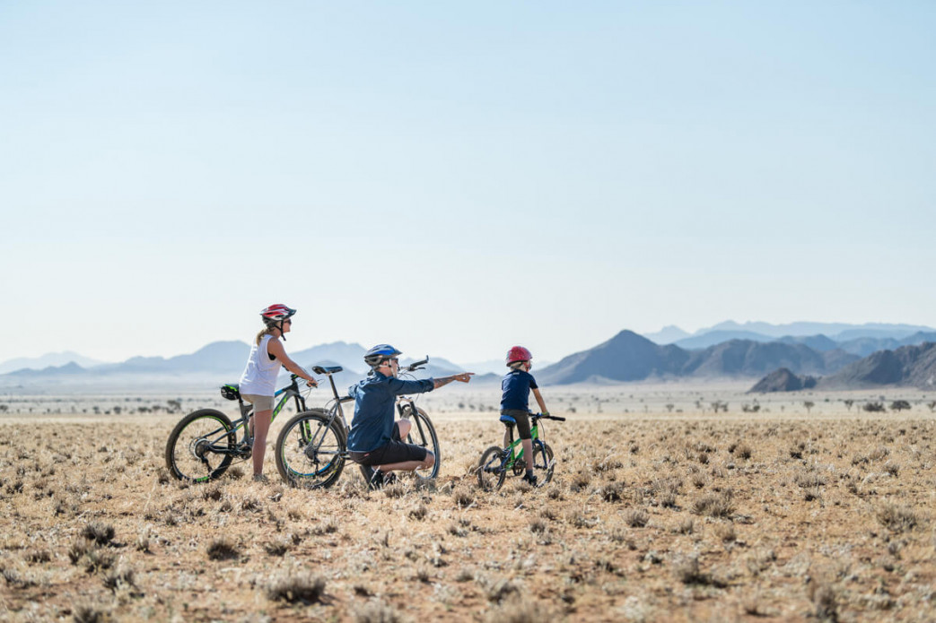 "Mountain bike the desert at <strong class=""text-green"">Camp Sossus</strong>"