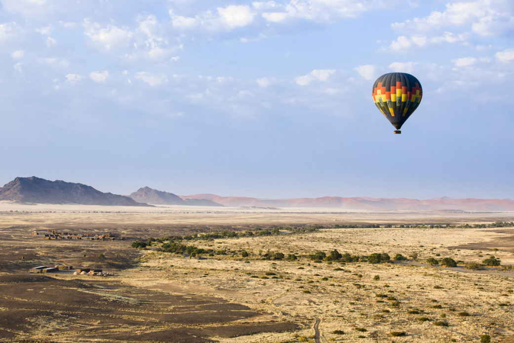 "Take a hot air balloon over the Namib Desert at <strong class=""text-green"">The Nest @ Sossus</strong>"