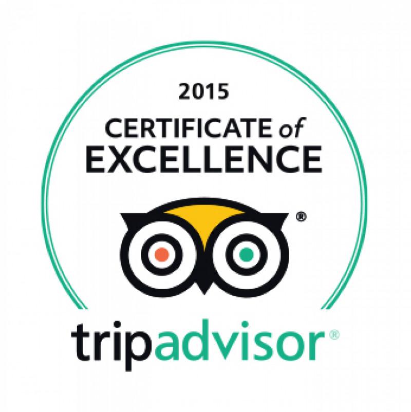 Tripadvisor - 2015 Certificate of Excellence