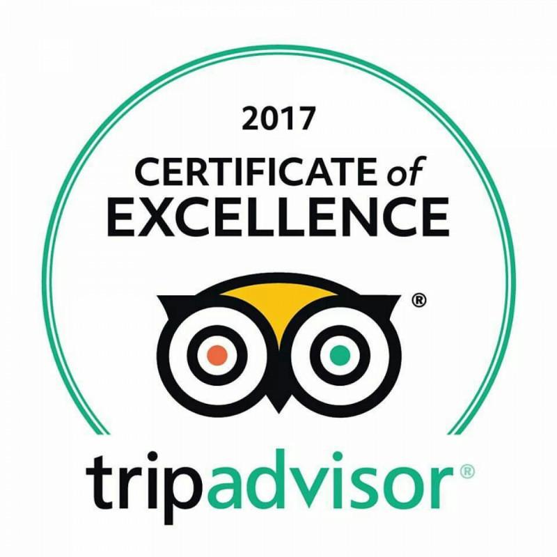 Tripadvisor - 2017 Certificate of Excellence