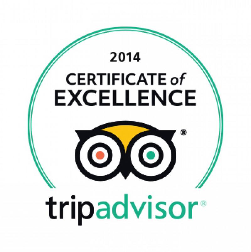 Tripadvisor - 2014 Certificate of Excellence
