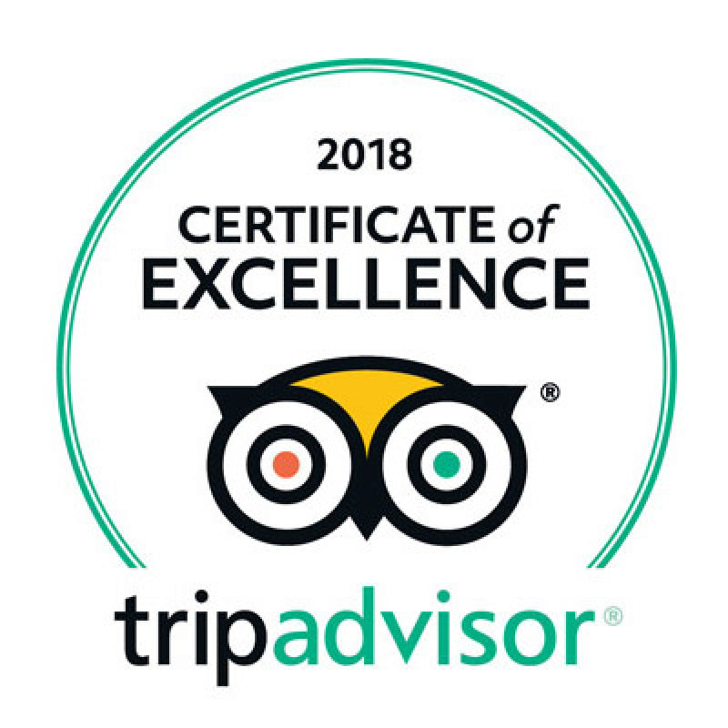 Tripadvisor - 2018 Certificate of Excellence