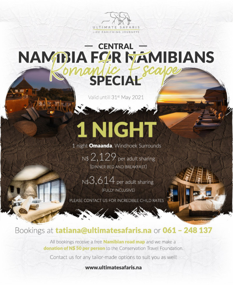 WINDHOEK ROMANTIC ESCAPE NAMIBIA SPECIAL PACKAGES