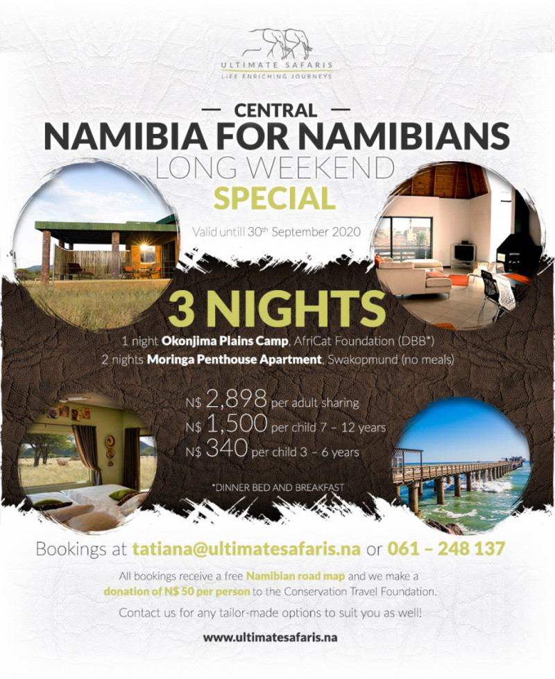 LONG WEEKEND NAMIBIA SPECIAL PACKAGES