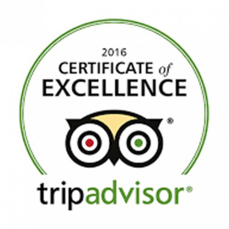 Tripadvisor - 2016 Certificate of Excellence